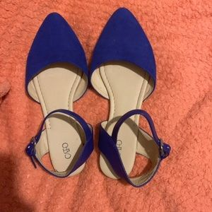 catos blue flats with ankle strap